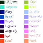 Text Colors - Click to Expand